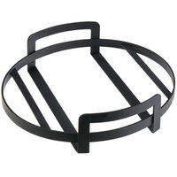 Cal-Mil 3486-12-13 12 inch x 3 1/4 inch Round Black Metal Platter Stand