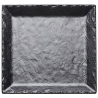 Cal-Mil SR252-65M 11 1/2 inch Square Faux Slate Platter with Raised Rim