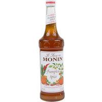 Monin 750 mL Premium Pumpkin Spice Flavoring Syrup