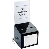 Cal-Mil 390 Suggestion Box with Cardholder - 7 inch x 7 inch x 16 inch