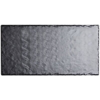 Cal-Mil 1522-518-65M 18 inch x 5 inch Rectangular Faux Slate Serving Platter