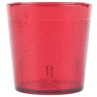 Carlisle 552910 9 oz. Ruby Old Fashion Pebbled Tumbler - 72 / Case