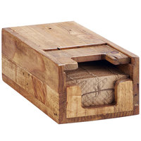 Cal-Mil 2050-99 Madera Reclaimed Wood Hot Cup Sleeve Dispenser - 12 1/4 inch x 6 1/4 inch x 4 1/2 inch