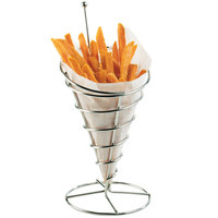 Cal-Mil 3468 Chrome Cone Wire Appetizer Holder - 5 inch x 10 1/2 inch