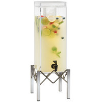 Cal-Mil 3436-3 Industrial 3 Gallon Beverage Dispenser with Ice Chamber - 8 1/2 inch x 8 3/4 inch x 26 inch