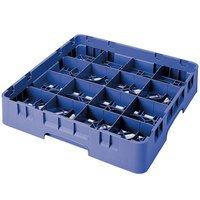 Cambro 16S738168 Camrack 7 3/4 inch High Blue 16 Compartment Glass Rack