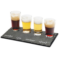 Cal-Mil 3500-65M 11 3/4 inch x 5 inch Faux Slate Taster Tray