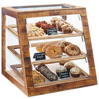 Cal-Mil 3432-99 Madera Reclaimed Wood 3 Tier Slanted Bakery Case - 21 inch x 21 1/2 inch x 21 1/2 inch