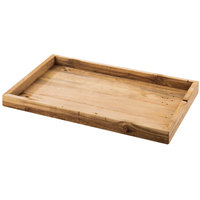 Cal-Mil 1367-10-99 Madera 12 inch x 9 3/4 inch x 1 1/4 inch Reclaimed Wood Serving Tray