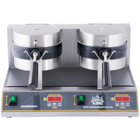 Carnival King WBM26DGT Double Belgian Waffle Maker with Digital Timer and Temperature Controls - 120V