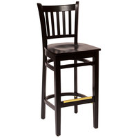 BFM Seating LWB102BLBLW Delran Black Wood Bar Height Chair