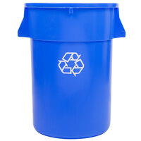 44 Gallon Blue Recycling Trash Can