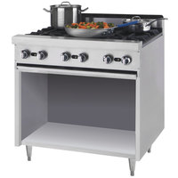 Blodgett BR-6 6 Burner 36 inch Gas Range with Cabinet Base - 180,000 BTU