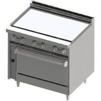 Blodgett BR-36G-36C 36 inch Manual Gas Range with Griddle Top and Convection Oven Base - 102,000 BTU