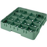 Cambro 16S1058119 Camrack 11 inch High 16 Sherwood Green Compartment Glass Rack