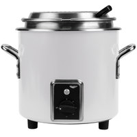 Vollrath 7217750 Pearl White Finish Retro 7 Qt. Stock Pot Kettle Rethermalizer - 120V, 1450W