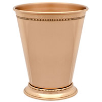 10 Strawberry Street COP-JULEP 26 oz. Copper Mint Julep Cup with Beaded Detailing