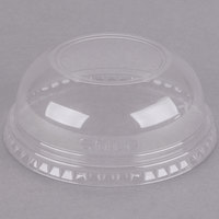 Dart Solo DLW16 16 oz. Clear PET Plastic Dome Lid with 2 inch Hole - 1000/Case