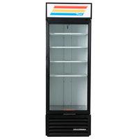 True GDM-19T-HC~TSL01 27 inch Black Glass Door Merchandiser with LED Lighting - 19 Cu. Ft.