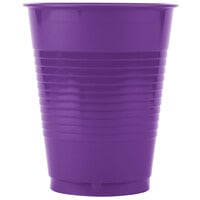 Creative Converting 318922 16 oz. Amethyst Plastic Cup - 240 / Case