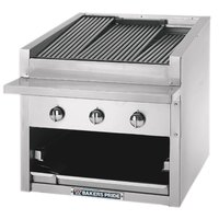 Bakers Pride C-72GS Natural Gas 72 inch Glo Stone Charbroiler - 306,000 BTU
