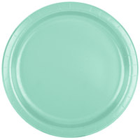 Creative Converting 318888 9 inch Fresh Mint Green Round Paper Plate - 240/Case