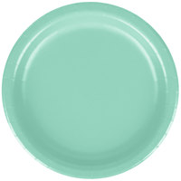 Creative Converting 318894 7 inch Fresh Mint Green Round Paper Plate - 240/Case