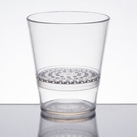 WNA Comet FFRG1248 FunFusions 12 oz. Clear 2-Piece Plastic Rocks Glass with Strainer - 8/Pack