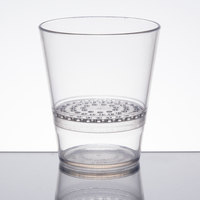 WNA Comet FFRG1248 FunFusions 12 oz. Clear 2-Piece Plastic Rocks Glass with Strainer - 6/Pack