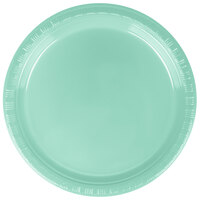 Creative Converting 318877 7 inch Fresh Mint Plastic Lunch Plate - 240/Case