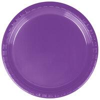 Creative Converting 318916 7 inch Amethyst Plastic Plate - 240/Case