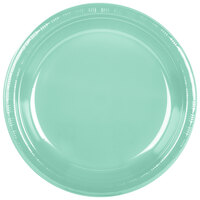 Creative Converting 318880 10 inch Fresh Mint Plastic Banquet Plate - 240/Case