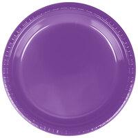 Creative Converting 318917 9 inch Amethyst Plastic Plate - 240/Case