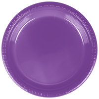 Creative Converting 318917 9 inch Amethyst Purple Plastic Plate - 240/Case