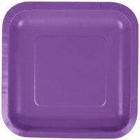 Creative Converting 318918 7 inch Amethyst Square Paper Lunch Plate - 180/Case