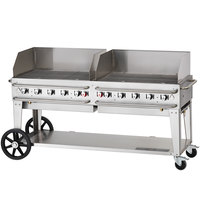 Crown Verity RCB-72WGP 72 inch Pro Series Outdoor Rental Grill with Wind Guard Package