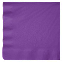 Creative Converting 318928 Amethyst Purple 3-Ply Dinner Napkin - 250/Case
