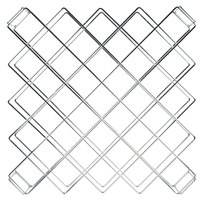 26 1/2 inch x 26 1/2 inch Chromate Finish Wire Wine Rack Module