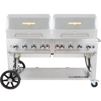 Crown Verity MCB-60RDP 60 inch Mobile Outdoor Grill with Roll Dome Package