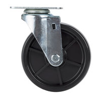 Avantco SPC5 5 inch Replacement Swivel Plate Caster for Avantco FF300, FF400, FF518 and Frymaster / Dean Floor Fryers