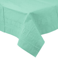 Creative Converting 318897 54 inch x 108 inch Fresh Mint Green Tissue / Poly Table Cover - 24/Case