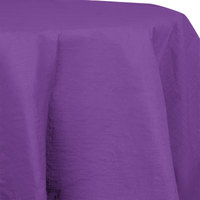 Creative Converting 318941 82 inch Amethyst Purple OctyRound Tissue / Poly Table Cover - 12/Case