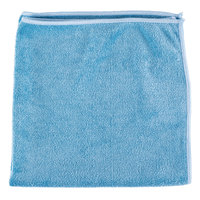 Unger MB40B SmartColor MicroWipe 16 inch x 16 inch Blue Medium-Duty Microfiber Cleaning Cloth   - 10/Pack