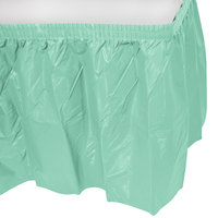 Creative Converting 318892 14' x 29 inch Fresh Mint Plastic Table Skirt