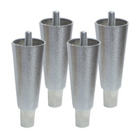 Continental Refrigerator 50203-4 6 inch Stainless Steel Legs - 4/Set