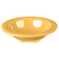 Carlisle 3304222 Sierrus 4.5 oz. 4 3/4 inch Honey Yellow Rimmed Melamine Fruit Bowl - 48/Case