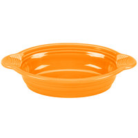 Homer Laughlin 587325 Fiesta Tangerine 17 oz. Oval Baker - 4 / Case