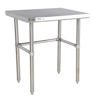 Regency 16 Gauge 30 inch x 30 inch Stainless Steel Commercial Open Base Work Table