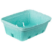 EcoChoice 2 Qt. Green Molded Pulp Berry / Produce Basket - 10 / Pack
