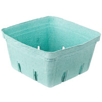 2.5 Qt. Green Molded Pulp Berry / Produce Basket - 200 / Case